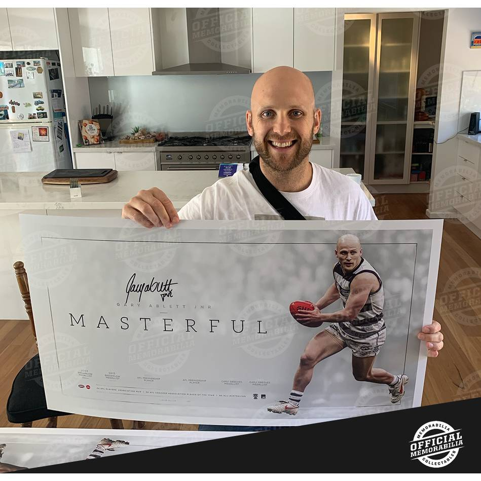 mainGary Ablett Jr Signed Career Retrospective Lithograph1