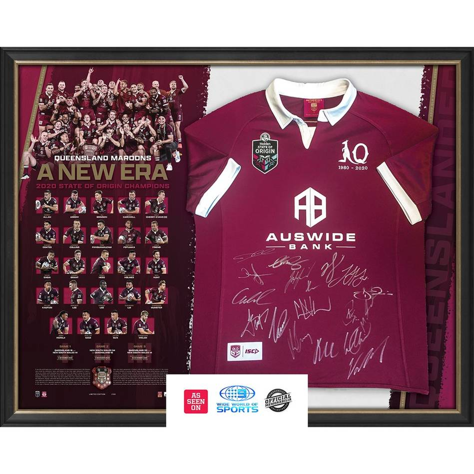 mainQLD Maroons 2020 State of Origin Signed Success Jersey0