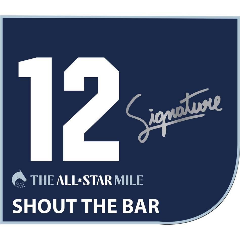 mainShout The Bar - Michael Walker Signed Saddlecloth0
