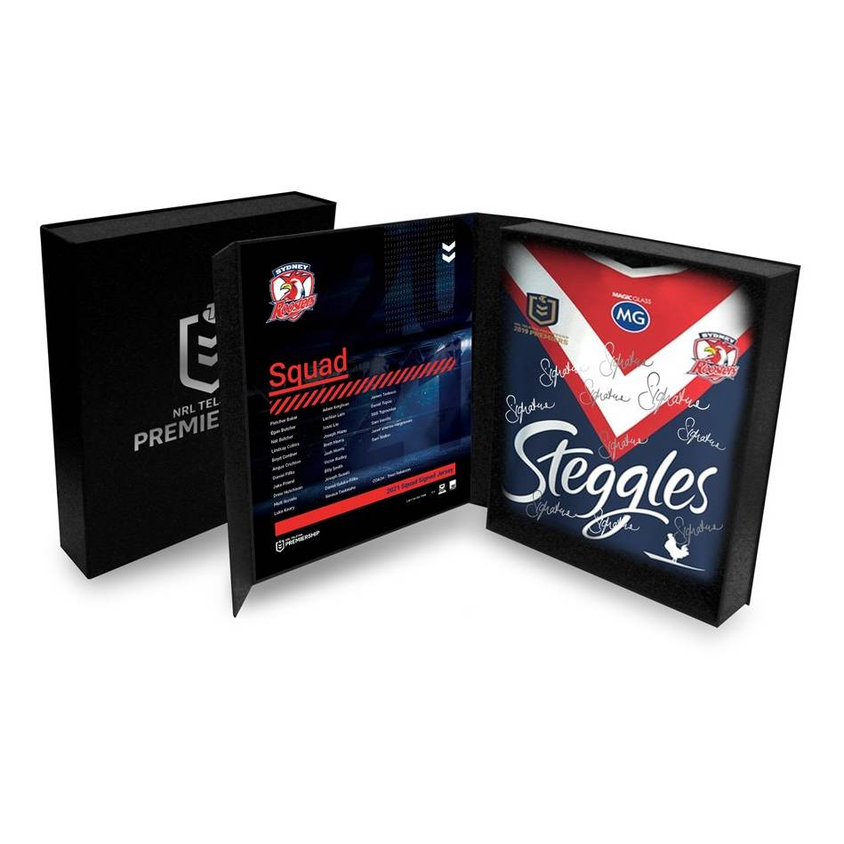 Sydney Roosters 2021 Squad Signed Jersey0