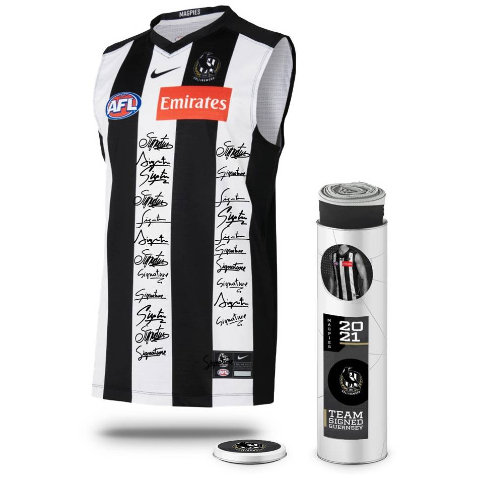 mainCollingwood Football Club 2021 Squad Signed Guernsey0