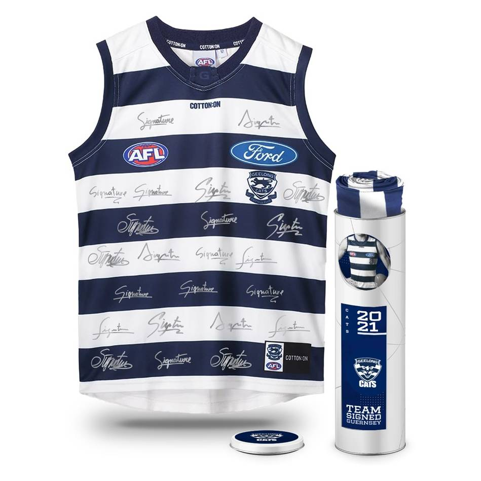 mainGeelong Cats 2021 Squad Signed Guernsey0