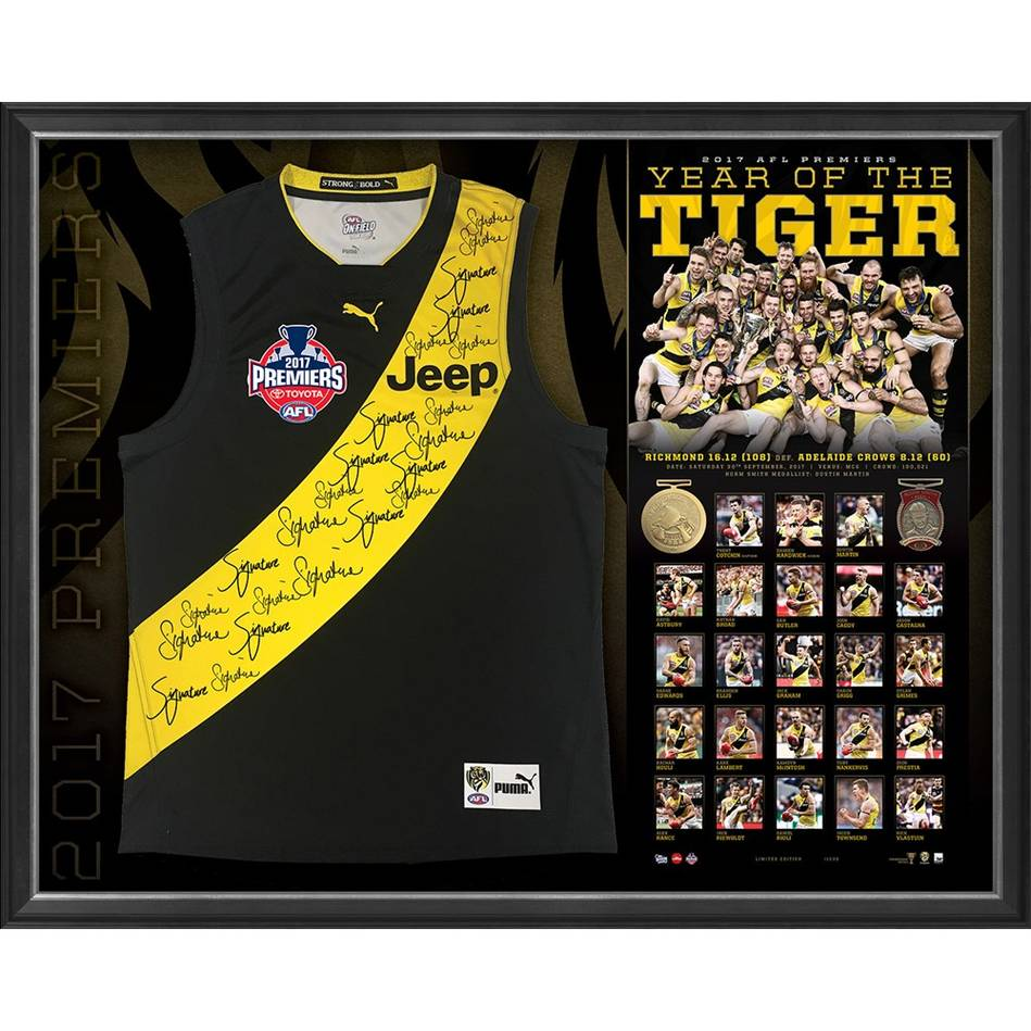 mainRICHMOND 2017 PREMIERS TEAM SIGNED GUERNSEY 'YEAR OF THE TIGER'0