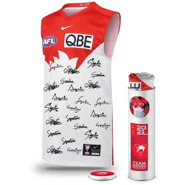 Sydney Swans 2021 Squad Signed Guernsey