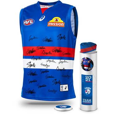 Western Bulldogs 2021 Squad Signed Guernsey