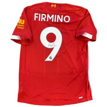 Roberto Firmino Signed Liverpool Jersey
