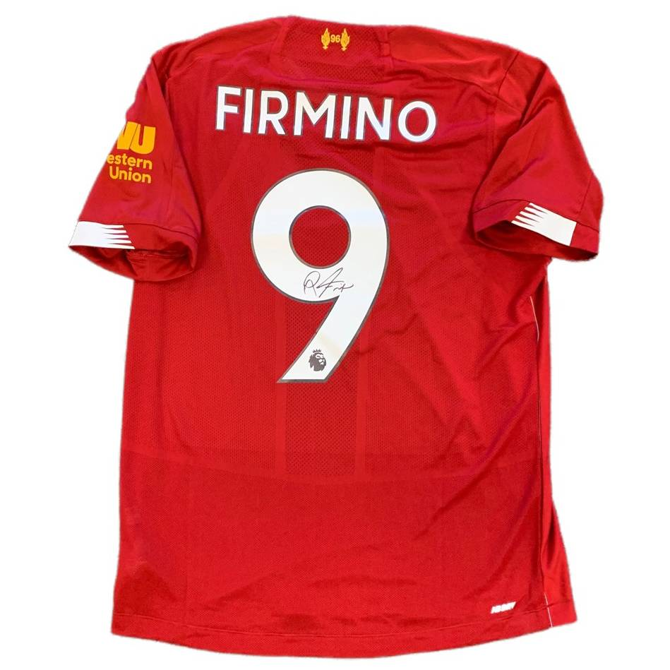 Roberto Firmino Signed Liverpool Jersey0