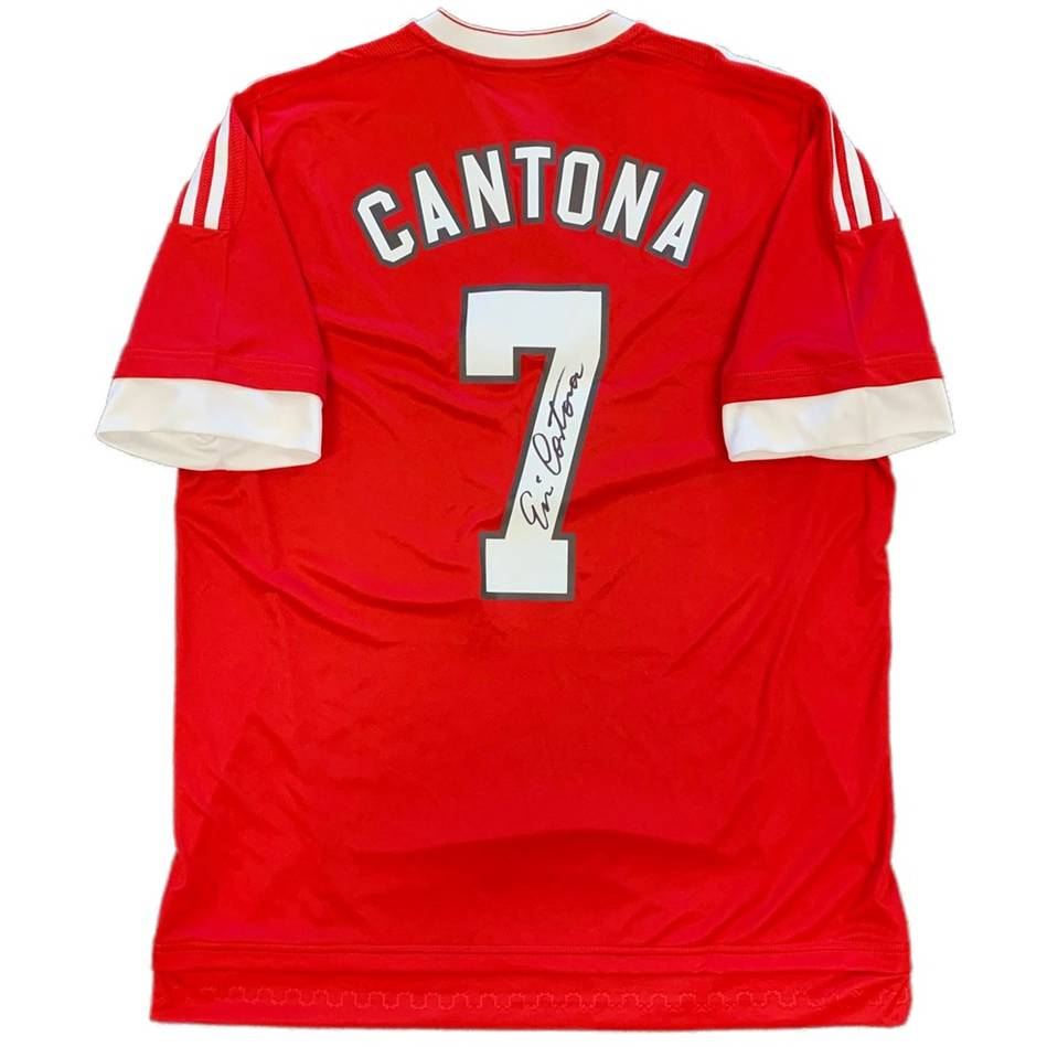 mainEric Cantona Signed Manchester United Jersey0