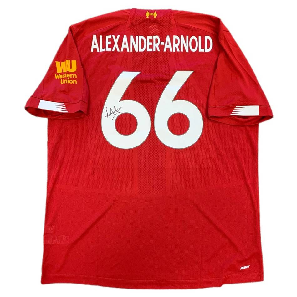mainTrent Alexander-Arnold Signed Liverpool 2019-20 Home Jersey0