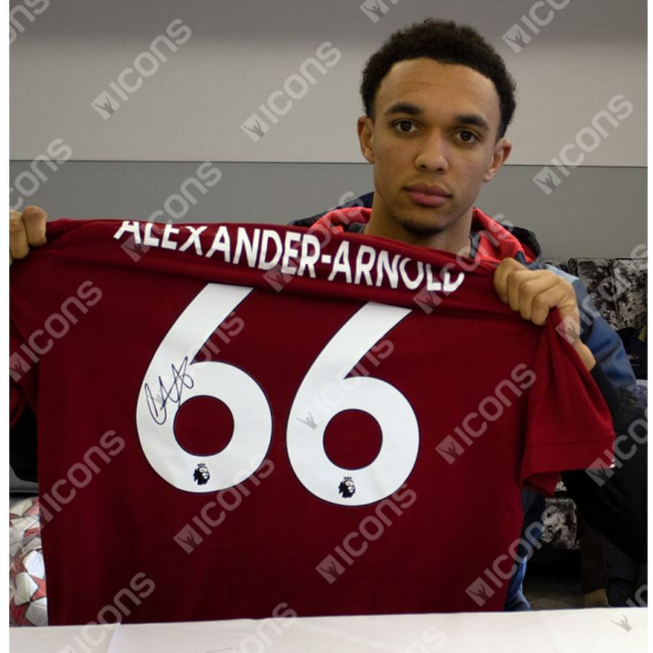 mainTrent Alexander-Arnold Signed Liverpool 2019-20 Home Jersey1