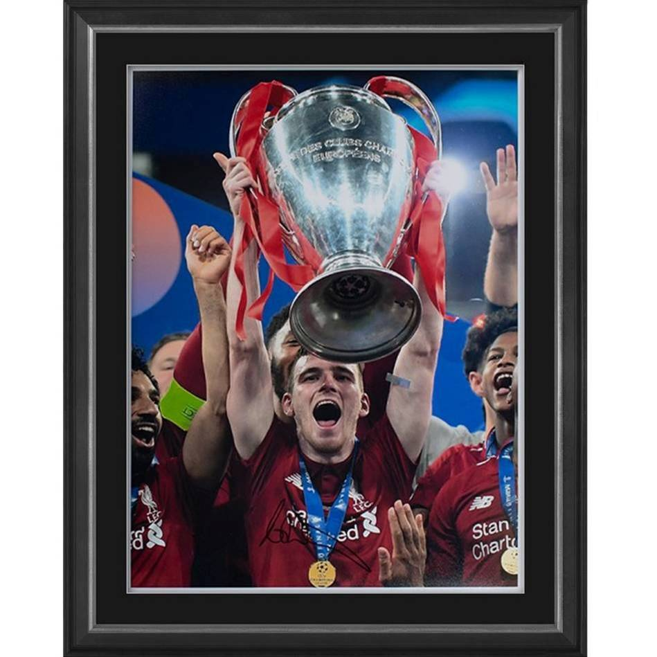 Andy Robertson Signed 2019 UEFA CL Photo0