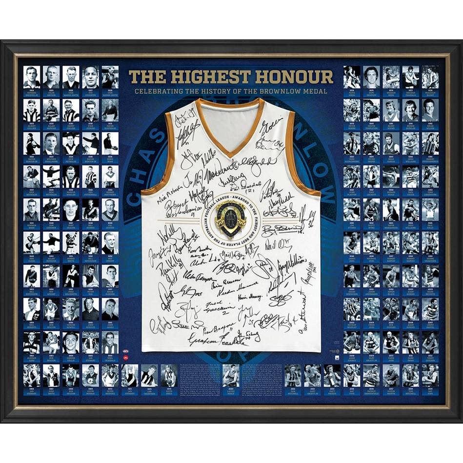 AFL Brownlow History Signed 'The Highest Honour'0