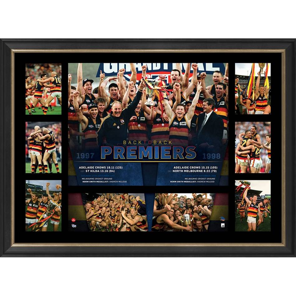 ADELAIDE CROWS PREMIERS TRIBUTE FRAME 'BACK-TO-BACK'0