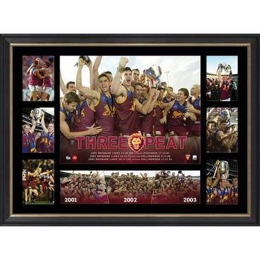 BRISBANE PREMIERS TRIBUTE FRAME 'THREE-PEAT'