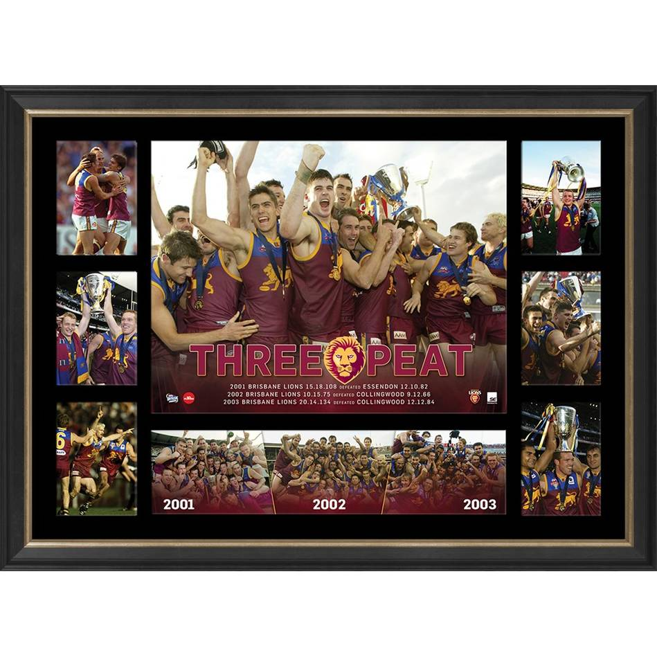 mainBRISBANE PREMIERS TRIBUTE FRAME 'THREE-PEAT'0