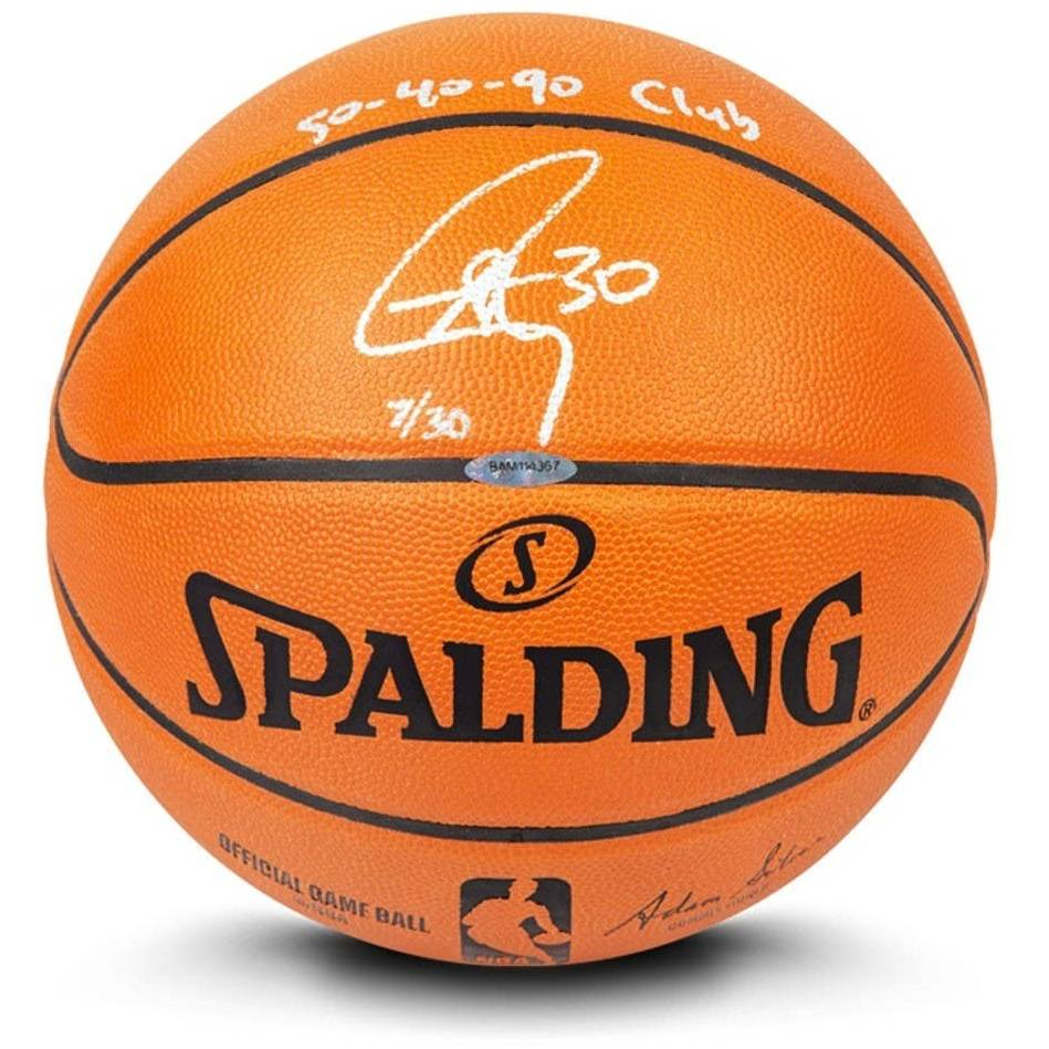 Stephen Curry Signed and Inscribed Basketball0