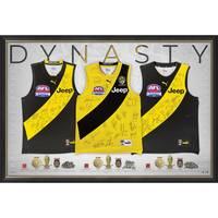 Richmond Premiership Dynasty Team Signed Triple Guernsey Display0