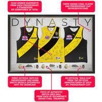 Richmond Premiership Dynasty Team Signed Triple Guernsey Display2