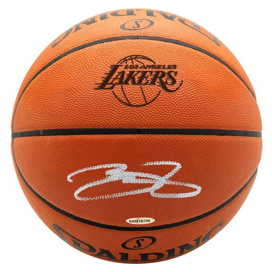 LeBron James Signed Basketball0