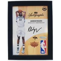 Andrew Wiggins Signed NBA Supreme Hard Court Autographs Piece0