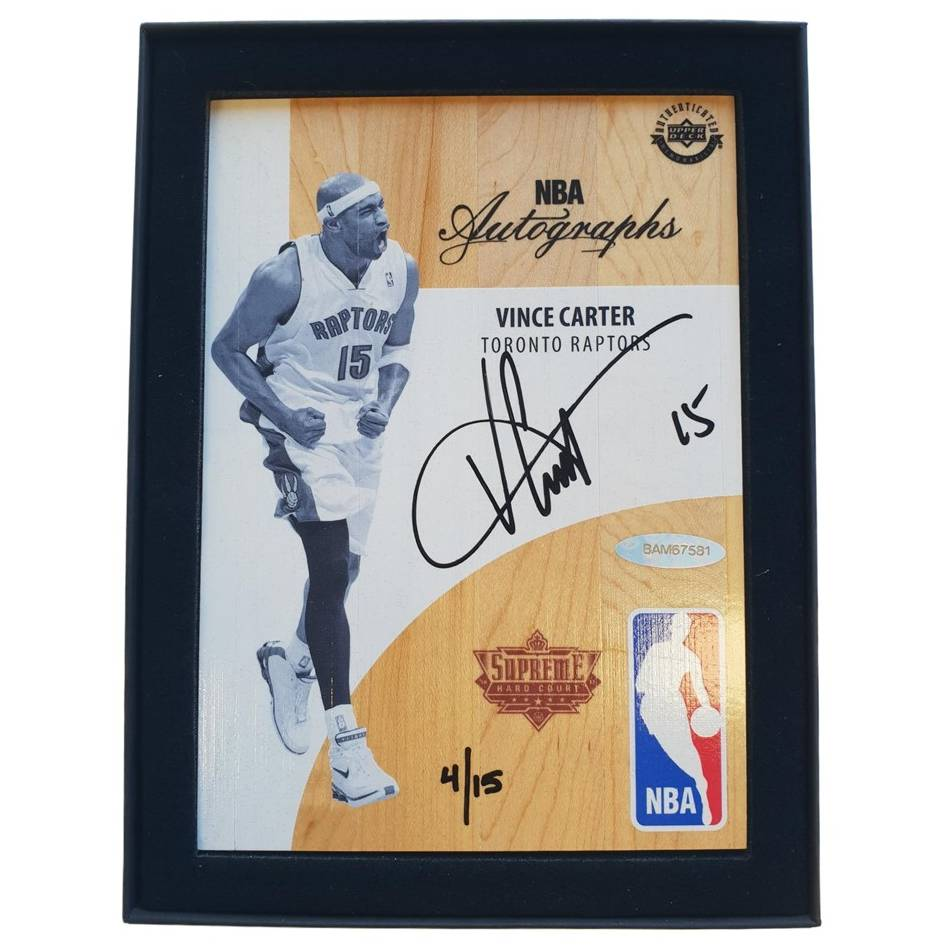 mainVince Carter Signed NBA Supreme Hard Court Autographs Piece0