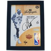 Vince Carter Signed NBA Supreme Hard Court Autographs Piece0