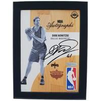 Dirk Nowitzki Signed NBA Supreme Hard Court Autographs Piece0