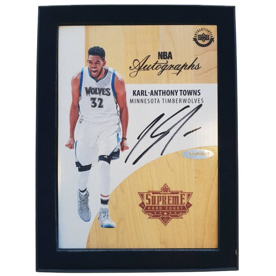 mainKarl Anthony-Towns Signed NBA Supreme Hard Court Autographs Piece0