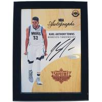 Karl Anthony-Towns Signed NBA Supreme Hard Court Autographs Piece0