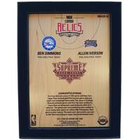 Ben Simmons and Allen Iverson NBA Supreme Hard Court Combo Relics Piece1
