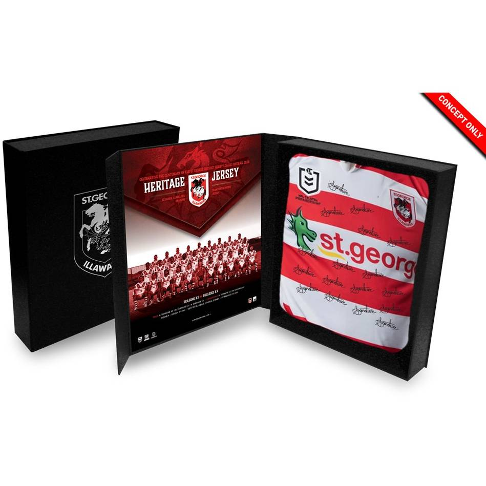 mainSt George Illawarra Dragons 2021 Team Signed Heritage Jersey (2/2)0