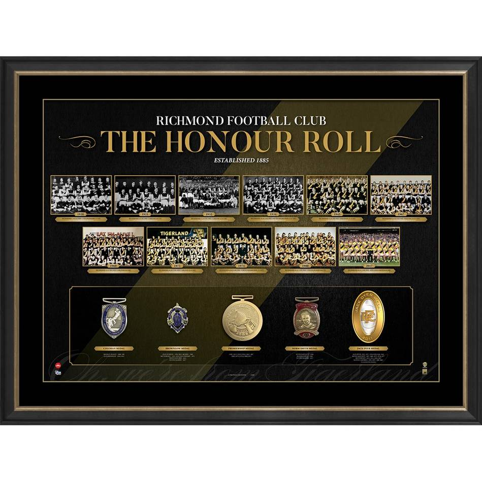 The Honour Roll | Richmond AFL Official Memorabilia