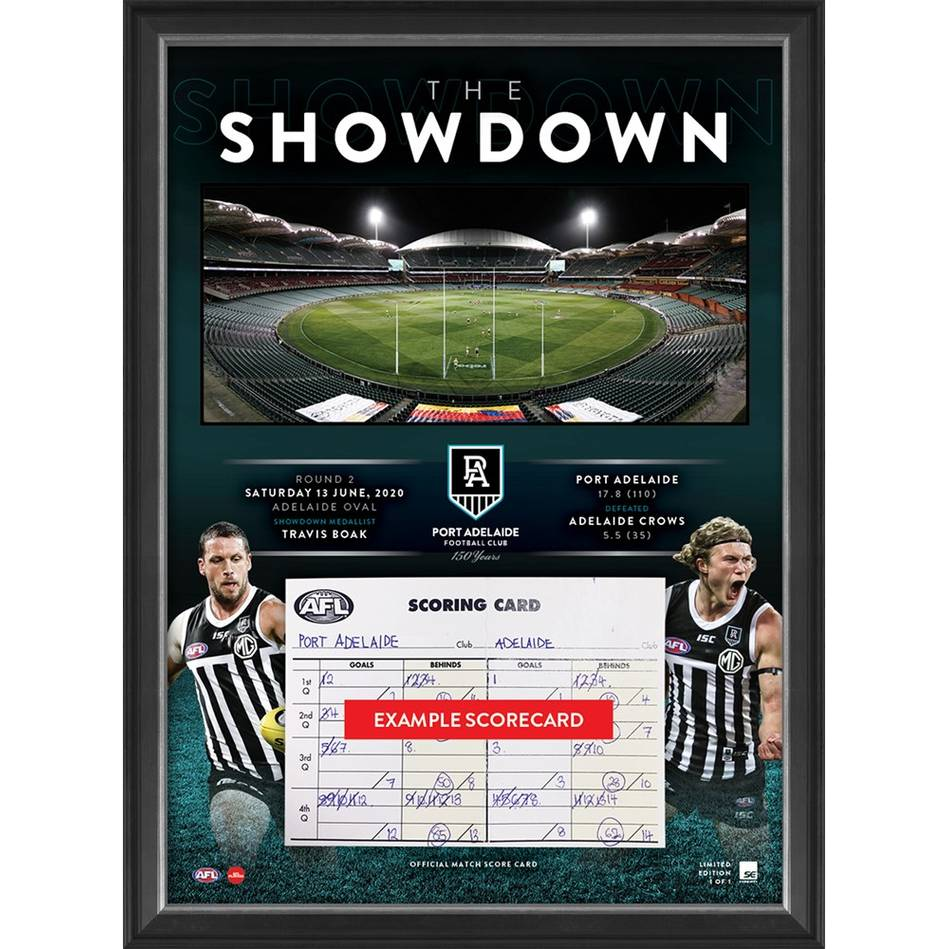 mainShowdown 2020 Official Match-Used Scorecard0