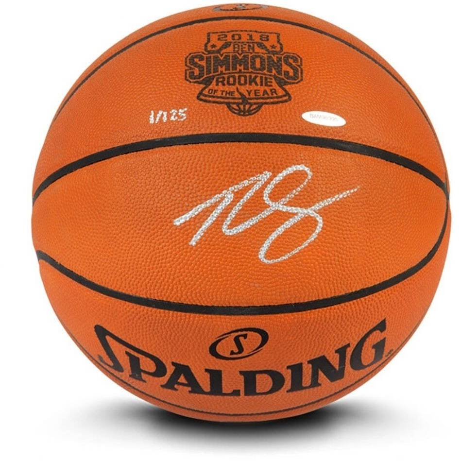 mainBen Simmons Signed Rookie of the Year Basketball0