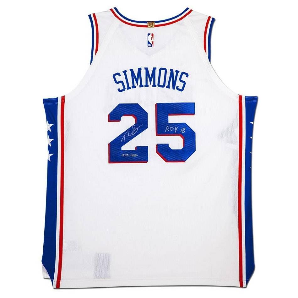 Ben Simmons Signed and Inscribed Philadelphia 76ers Nike Jersey0