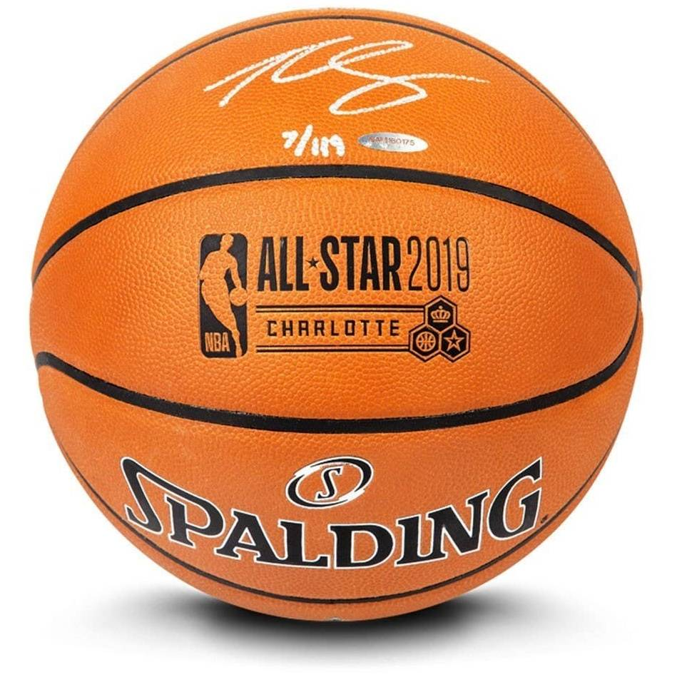 mainBen Simmons Signed 2019 All-Star Game Basketball0