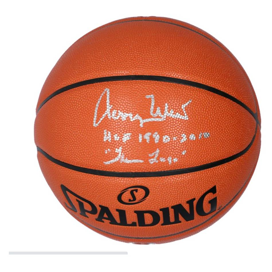 Jerry West Los Angeles Lakers Signed and Inscribed Basketball0