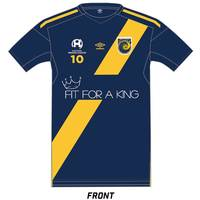 Stefan Nigro Signed Fit for a King Warm-Up Jersey0