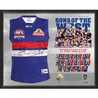 WESTERN BULLDOGS TEAM SIGNED PREMIERS GUERNSEY 'SONS OF THE WEST'0