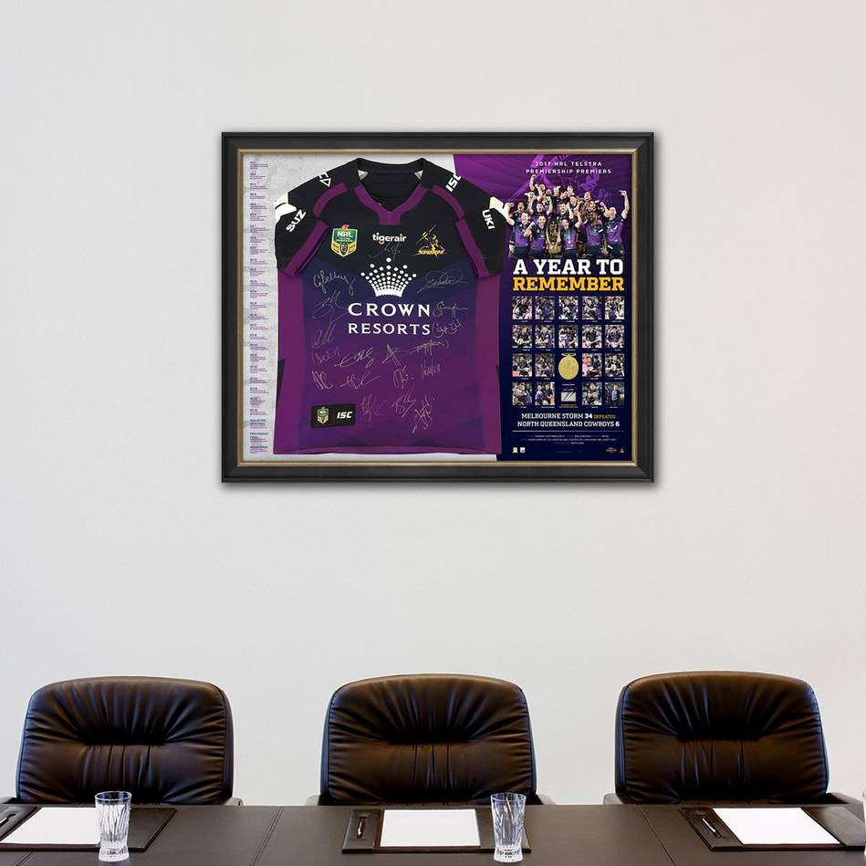 mainMELBOURNE STORM 2017 PREMIERS TEAM SIGNED JERSEY DELUXE EDITION1