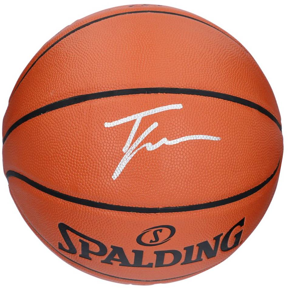 mainTrae Young Signed Spalding Basketball0
