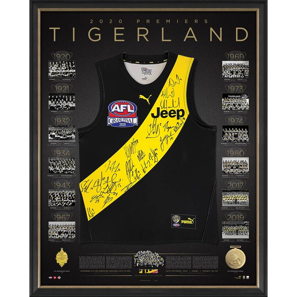 mainEDITION #4 Richmond 2020 Premiers Team Signed Guernsey Deluxe0
