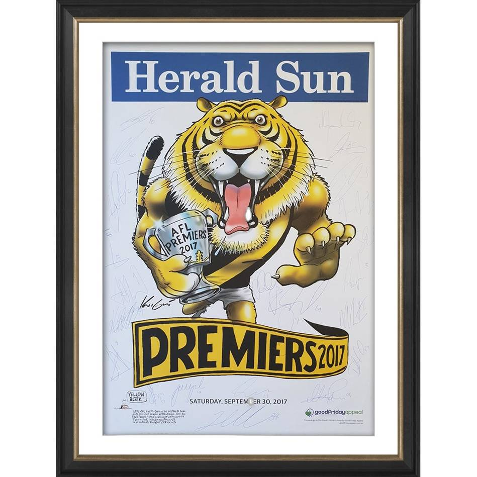 mainRichmond 2017 Premiers Team Signed Mark Knight Poster0
