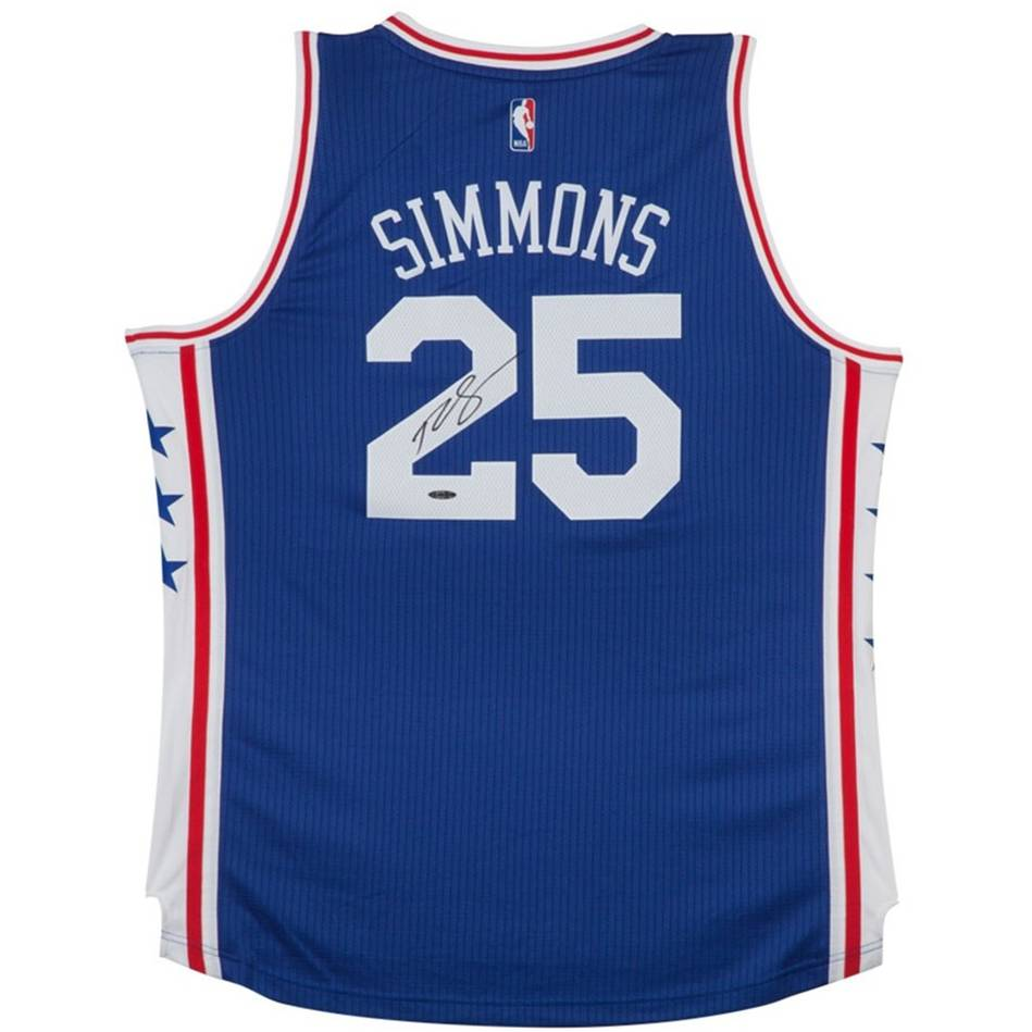 mainBEN SIMMONS SIGNED 76ERS AWAY JERSEY0