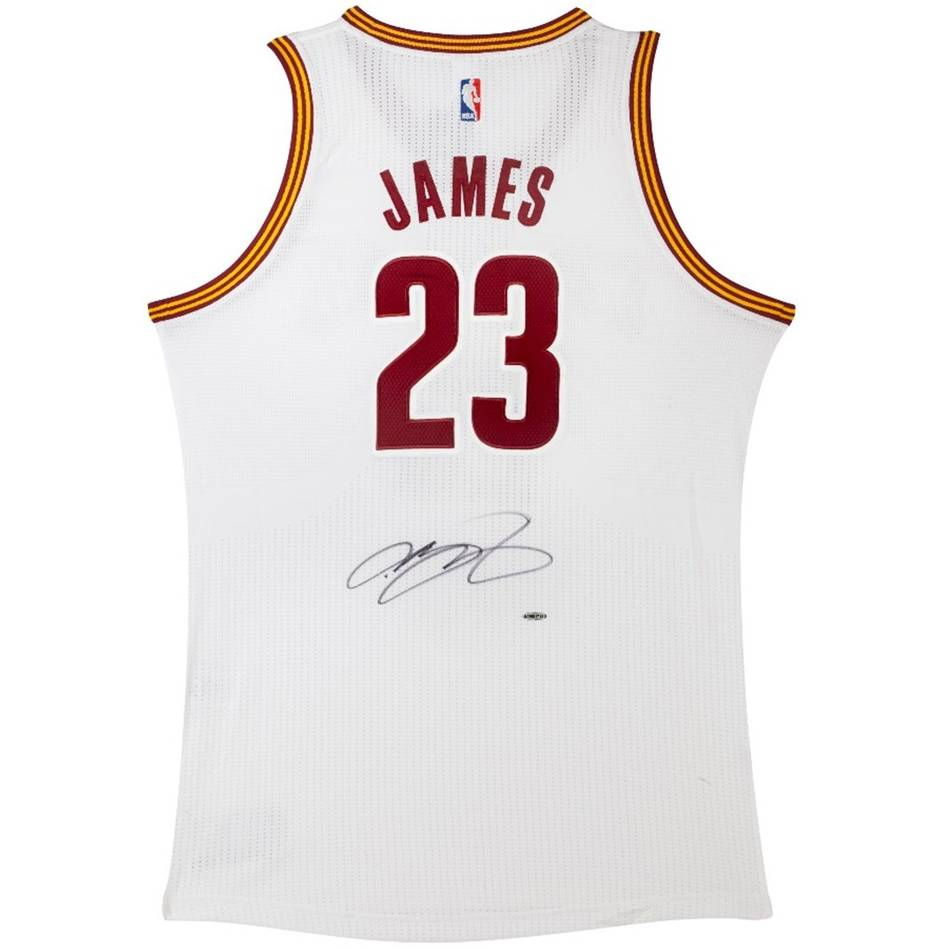 LEBRON JAMES SIGNED CLEVELAND CAVALIERS ADIDAS HOME JERSEY f8a8f3a89