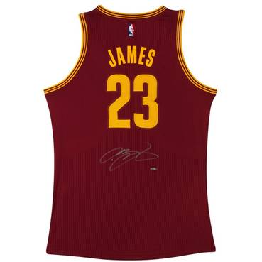 LEBRON JAMES SIGNED CLEVELAND CAVALIERS ADIDAS AWAY JERSEY