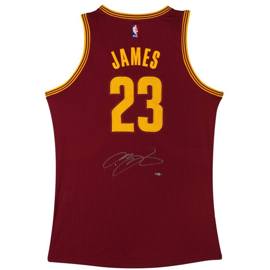 f1f004b8d11 LEBRON JAMES SIGNED CLEVELAND CAVALIERS ADIDAS AWAY JERSEY