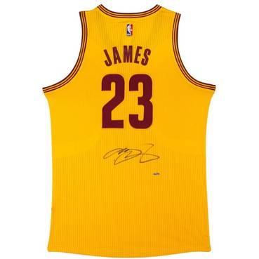 LEBRON JAMES SIGNED CLEVELAND CAVALIERS ADIDAS ALTERNATE JERSEY