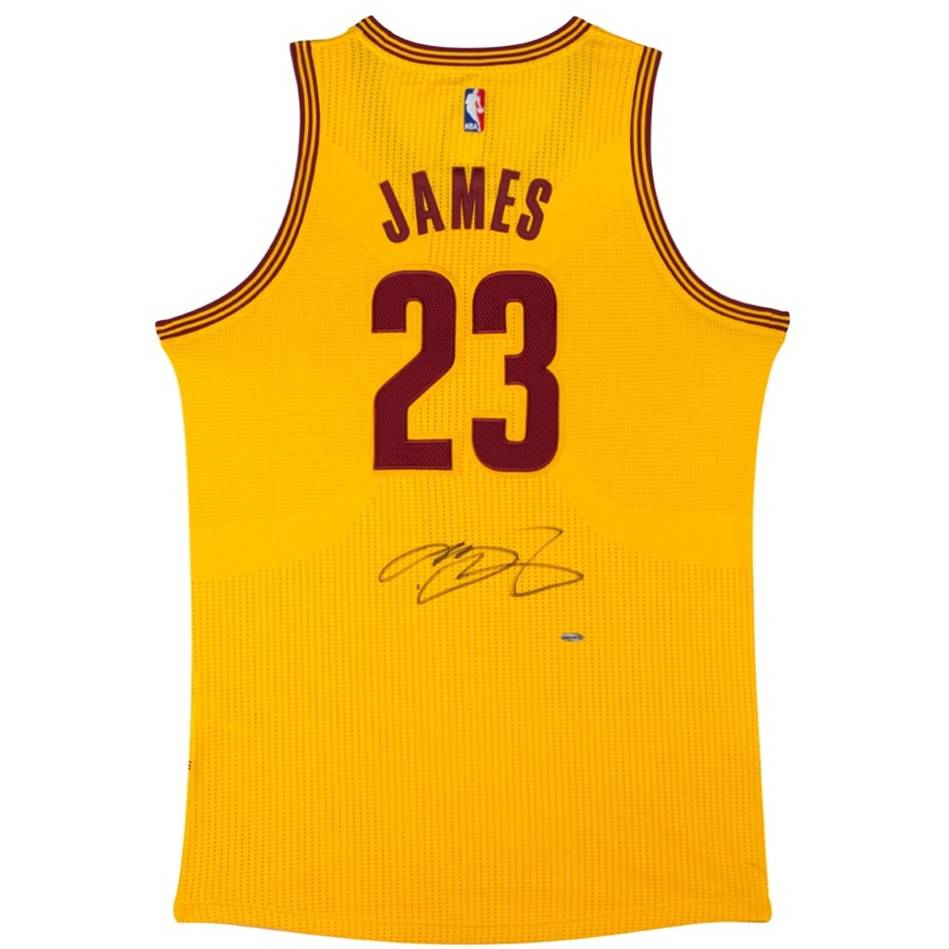 mainLEBRON JAMES SIGNED CLEVELAND CAVALIERS ADIDAS ALTERNATE JERSEY0