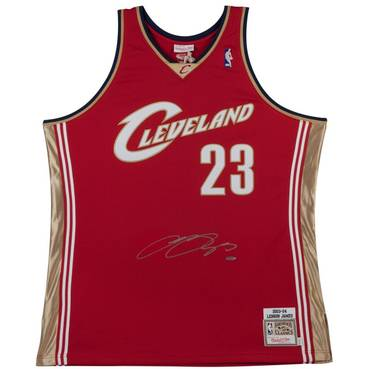 LEBRON JAMES SIGNED 2003-04 CLEVELAND CAVALIERS JERSEY